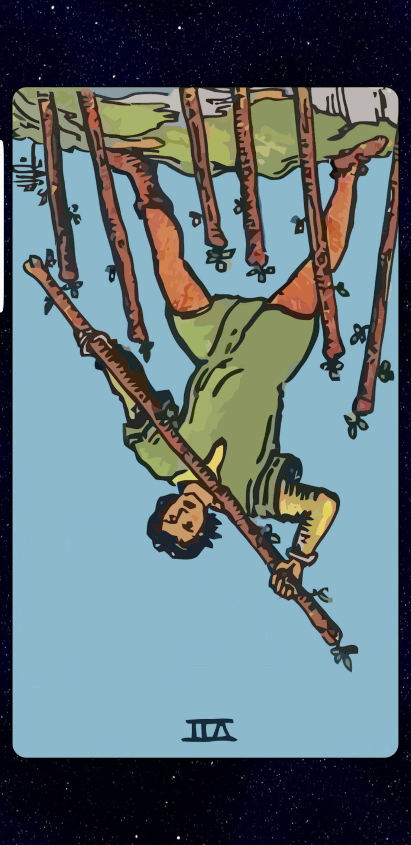 Seven of Wands Reversed Tarot card